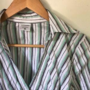 4/$20 Green striped maternity shirt